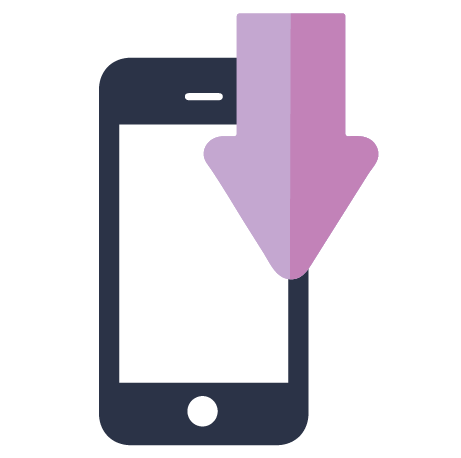 Download to smartphone icon